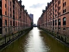 Hamburg Speicherstadt. Ein Schnappschuss mit dem iPhone auf dem Weg in die Häfen City.