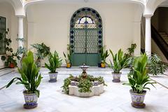 Building Courtyard (ep_jhu) Tags: sevilla x100f spain seville plants courtyard building fuji fujifilm green puerta sanisidoro españa door andalucía es