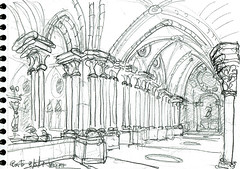 Porto, le cloître de la cathédrale de Sé (Croctoo) Tags: croctoo croquis croctoofr crayon portugal porto ville cathedrale