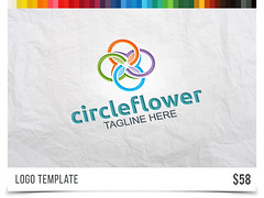 Circle Flower (Acongraphic) Tags: vector gender salon beach design boutique resort energy leaf yoga agency water logo green stock creative holiday media eco wave abstract three travel meditation beauty spa nature hotel elegant hospitality flower floral wellness simple