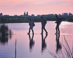 Walk on water #wormerveer #noordholland #nederland (monique.anrochte) Tags: pink soft softtone pastel facebook human moniqueanrochte dutch netherlands dawn morning guisveld zaanstreek zaanstad instagram photography fotografie canon6d canon landschap natuur staatsbosbeheer tourism walk walking landscape nature three people men holland reflection water sunrise thethirdman flickrfriday wormerveer noordholland nederland