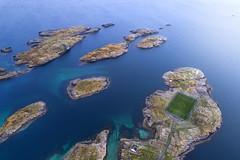 The lost stadium (Jay Daley) Tags: football stadium norway henningsvaer dji phantom 4 pro aerial