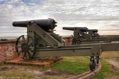 Cannons at Fort Macon, Emerald Isle, North Carolina (Daniel Arthur Brown) Tags: civilwar december emeraldisle fortmacon fortmaconstatepark nc northcarolina cannon fort historicsite atlanticbeach unitedstates us
