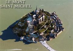 postcard - Mont St. Michel 4 (Jassy-50) Tags: postcard montsaintmichel montstmichel france abbey monastery island unescoworldheritagesite unescoworldheritage unesco worldheritagesite worldheritage whs couesnonriver bay water aerial