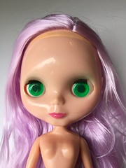 My New Lilac Girl (_danie11e_) Tags: basaak ooak wip girl purple lilac blythe clone doll custom