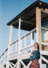 (awaylastdays) Tags: pentax me super pentaxmesuper kodak portra kodakportra sky beach girl beautiful beaty sun summer film minimal minimalism ukraine ua outdoor color cherkassy cherkasy colors