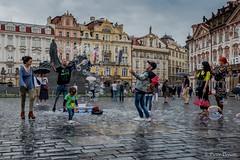 """Praga """" bubbles """" (Pietro Donato) Tags: bolle street boys gioco praha bubbles soap fuji xf 16 f14 people color"""