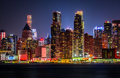 City of Color (cosmoguy1) Tags: new york city nyc lights color vibrant vibrance long exposure hudson river purple red green yellow starburst starry sky star night photography dark glow jersey weehawken waterfront park nikon d5300 oben tripod