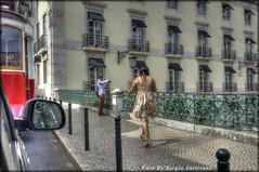 Portogallo #3 (celestino2011) Tags: macchina tram donna fotografo lisbona hdr