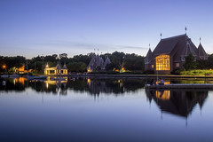 Bandshell Reflections (Sam Wagner Photography) Tags: lake harriet south minneapolis chain peaceful urban nature sailboats twilight reflections calm summer clear sky blue hour minnesota twin cities recreation wide angle bandshell light architecture