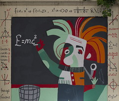 Mass-Energy Equality graffiti (Kirlikedi) Tags: street wall drawing formula math mass energy einstein lightspeed relativity theory picture graphite graffiti equation art paint spray colored article