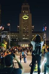 The usual press coverage for the Wayne Enterprise in Gotham City. #BatSignal 🌆 (redshutterbugg) Tags: streetphotography city 500px love batman dtla losangeles fujifilm fujifilmxseries discoverla batsignal