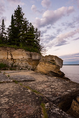 Hecla Island (CanadianOlli) Tags: hecla island summer spring rock sky water tree formation manitoba canada explorecanada bolder