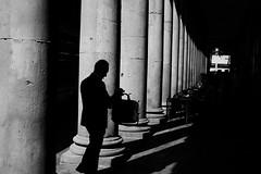 Road To Nowhere (Sergi_Escribano) Tags: sergiescribano barcelonastreetphotography city streetphotography streetsofbarcelona laboqueria mercatdesantjosep smoke light lightanddarkness barcelona blackandwhite blancoynegro monochrome monocromático shadows silhouette architecture