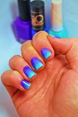 Esmaltação das corujas - Copiei porque gostei. (Raíssa S. (:) Tags: esmalte unhas nails degradê nailpolish nailart naillacquer roxo purple blue azul colorclub dote hits gioantonelli corujas