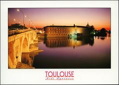 postcard - Hotel-Dieu St-Jacques, Toulouse (Jassy-50) Tags: postcard toulouse france garonneriver garonne river bridge sunset unescoworldheritagesite unescoworldheritage unesco worldheritagesite worldheritage whs hoteldieustjacques stjameshospital pontneuf newbridge pilgrimage routeofsantiagodecompostela santiagodecompostela
