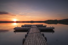 SILENCE (Melanie Martinu) Tags: outdoor canon germany bavaria pier sky colors colorful clouds reflection landscape nature longexposure water sunset sun lake