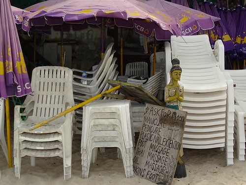 Still Life with Sculpture and Chairs - Hua Hin - Thailand