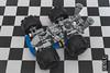 Space kart - view 05 (Priovit70) Tags: lego classicspace spacekart blue wheels mrrobot engine lightbluishgray checkeredflag olympuspenepl7