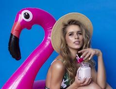 Adventure 143/365 (Alvcohen) Tags: flamingo blue pink model women tropic coctail swimsuit