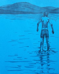(Talya.c) Tags: blue marker sketch drawing illustration lake water cold coldwater paper bluepaper tuchmarker