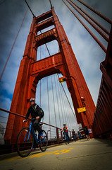 Bikers (Rabican7) Tags: california sanfrancisco golden gate bridge goldengatebridge cycling bike travelling street streetphotography