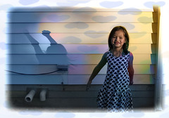 mi.amor (༺lifemage༻) Tags: portrait kid colour color photoshop ps spring yard house shadow wall dress heart love smile happy joy life lifemage photography canon canada bc gaia dream