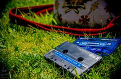 My weekend away <3 (Madija~) Tags: grass summer verano cassettes tapes analogue analog vintage audio handbag amiga remixes music