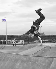 West Coast Clash Skating Competition.. (Imagine8 Photography) Tags: monochrome bw sport skate skating skater westcoastclash competition jump twist turn evolution evolutionskatepark ayrshire saltcoats scotland nikon imagine8photography