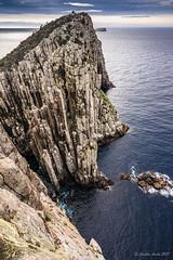 Vertical view of Cape Hauy (NettyA) Tags: 2017 3capestrack australia sonya7r tasmannationalpark tasmanpeninsula tasmania tassie threecapestrack bushwalk bushwalking day4 hike hiking seastack totempole capehauy dolerite columns