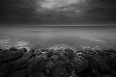 Iran - mazandaran - caspian #sea (ali.fathi) Tags: sea iran d810 longexposure monochrome blackandwhite bw 1424 creative composition nature nikon trip travel 2017 outdoor