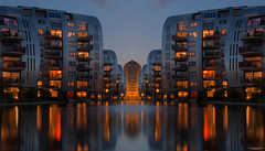 City Mirror (State of Decay) Tags: nederland avond avondfotografie evening city stad cityscape weerspiegeling mirror denbosch palijskwartier lights licht architecture