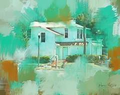 Blue Villa (peppermcc) Tags: florida stpete stpetersburg blue aquapastel painted