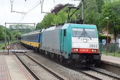 NS 2803 @ Kijkuit (ianjpoole) Tags: nmbs sncb nederlandse spoorwagen class 186 2803 working train ic9223 bruxelles midi amsterdam centraal