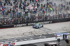 Jimmie Johnson celebrates his win at Bristol Motor Speedway (Hazboy) Tags: hazboy hazboy1 nascar auto car race racing bristol motor speedway food city 500 tennessee sport usa us america
