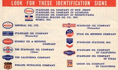 Look for these identification signs... (Nicholas Eckhart) Tags: map scanned document vintage esso gasstation 1939