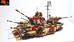 Hydra Ultra Heavy Tank (Eínon) Tags: hydra marvel red skull captain america lego ww2 world war two super heavy tank land battleship