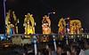 Durga Puja Immersion Carnival (Debarshi Ray) Tags: india kolkata calcutta durgapuja autumn canon canoneos70d tamron tamronaf18270mmf3563 hinduism idol carnival procession immersion truck lorry redroad tableux trailer float street road crowd people black yellow kartik saraswati laxmi lakshmi ganesh