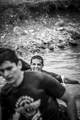 Changing faces (César Belio) Tags: people racers corredores gladiator lake swim black white blanco negro