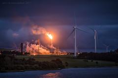 Blade Runner (ianrwmccracken) Tags: factory night plant fife mossmorran industrial exxon flare lowlight gas chemical flame
