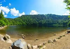 Panorama vom Feldsee (jochenhaesler) Tags: landschaft landscape berg feldberg feldsee wasser water himmel heaven wolken clouds sun sonne polfilter bw sonyzeiss zeiss sonyalpha sonyalpha7 sonyalpha7m2 sonyalpha7ii alpha7 alpha7m2 alpha7ii ilce7 ilce ilce7m2 ilce7ii bäume trees tannen wald