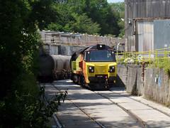 70817 Moorswater (61) (Marky7890) Tags: colasrail 70817 class70 6c35 moorswater liskeard cornwall railway train