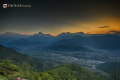 sarangkot- sunrise-2 logo (anindya0909) Tags: nepal sarangkot sunise sunrise