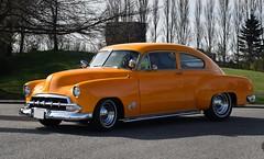 1952 Chevrolet Fleetline DeLuxe 2-door sedan (Custom_Cab) Tags: 1952 chevrolet chevy fleetline 2door 2 door sedan orange car deluxe de luxe custom kustom street rod