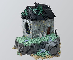 Dunsy Monastery (UrAsSaneAsIAm) Tags: lego medieval landscape monastery