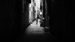 Movement (elgunto) Tags: barcelona elborn streetphoto people blurry silhouette street contrast blackwhite bw sonya7 canonfd28 manuallense