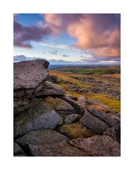 Langstone Moor, Dartmoor, Devon, UK (SimonHMiles) Tags: dartmoor moor heath upland rock granite sky sunset evening dusk