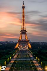 Champ-de-Mars & Tour Eiffel II (A.G. Photographe) Tags: anto antoxiii xiii ag agphotographe paris parisien parisian france french français europe capitale d810 nikon nikkor 2470 champdemars eiffeltower toureiffel sunset goldenhour trocadéro