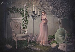 A quite mind is able to hear intuition over fear... (Neda Andel ~SLooK4U Blog) Tags: quite mind fear feelings emotion pink garden gizza secondlife 3d mesh blog neda blogging photoshop candle chair littlebranch