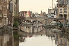 Saint Michel bridge (Croix-roussien) Tags: gand gent belgium belgique bridge reflection reflet